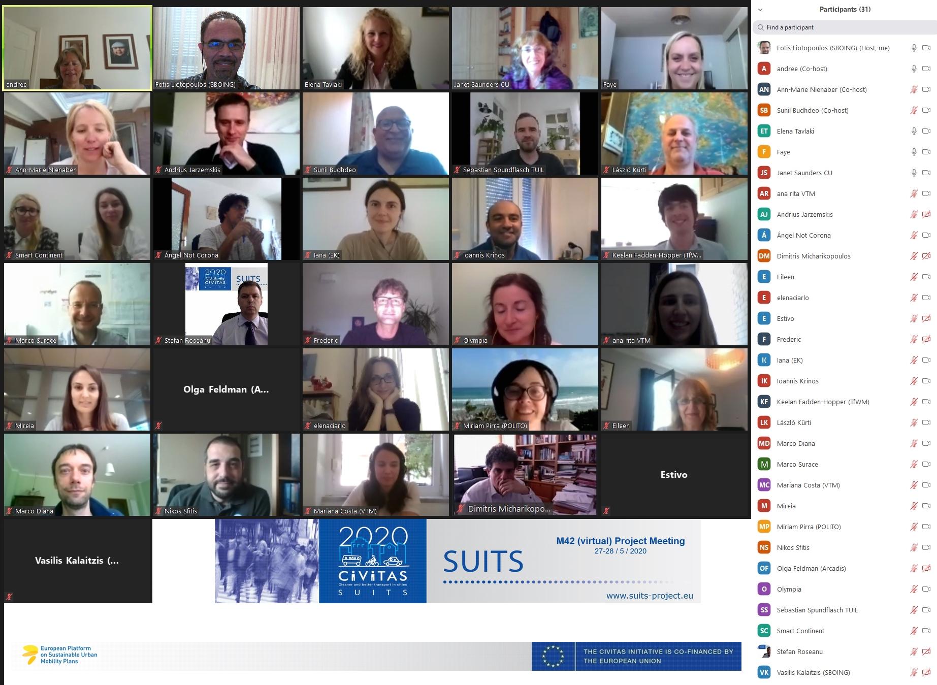 SUITS GA (virtual) Meeting 27-28 May 2020